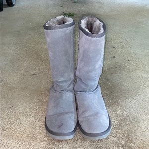 Gray Tall Uggs
